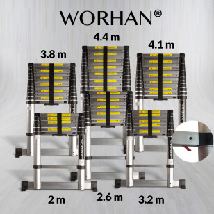 Single Telescopic Ladder - Air Soft Close